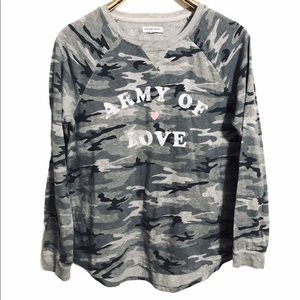 Grayson Threads Army of Love gray camo tee shirt